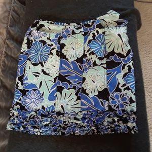 Etcetera Linen Floral Pocket Ruffle Skirt 4